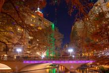 San Antonio River Walk Near Navarro St In Downtown San Antonio, Texas, USA.