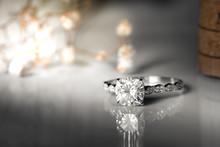 Jewelry Diamond Rings On White...