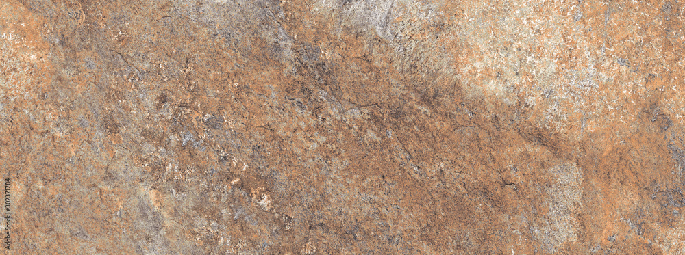 Fototapety, obrazy: Brown rough marble texture background, Rustic marble with concrete effect, It can be used for interior-exterior home decoration and ceramic tile surface.