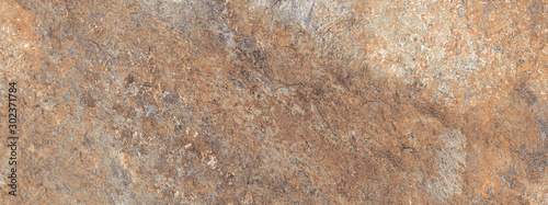 Brown rough marble texture background, Rustic marble with concrete effect, It can be used for interior-exterior home decoration and ceramic tile surface. - 302371784