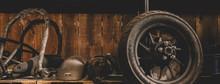 Motorcycle Wheel On The Floor ...
