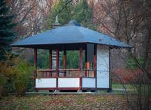 Japan Garden With Wooden Gazebo