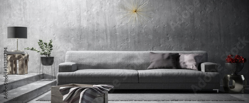 Modern Furnishing Presentation (B&W) - 3d visualization