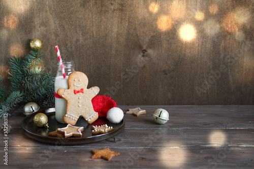 Poster Ecole de Danse Gingerbread cookies and milk