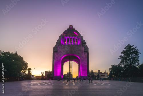 Obraz Monument to the Revolution, republic plaza, mexico city - fototapety do salonu