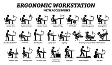 Ergonomic Computer Desk, Workp...