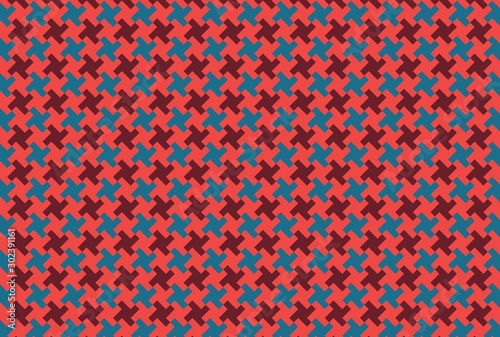 Houndstooth seamless pattern Wallpaper Mural