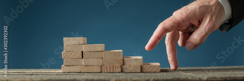 Photo Conceptual image of business determination and ambition