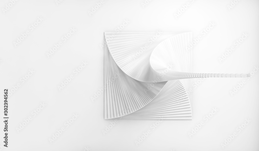 Abstract digital geometric shape 3d