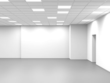 Abstract Empty Open Space Office