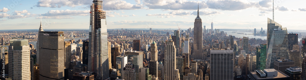 Fototapety, obrazy: Panorama view of Midtown Manhattan from Top of the Rock