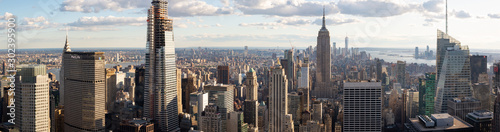 Fotografía  Panorama view of Midtown Manhattan from Top of the Rock