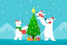 Polar Bear Family Decorating C...