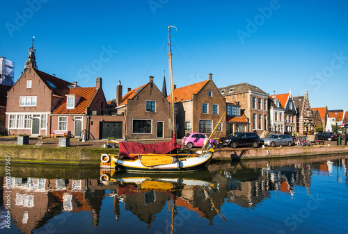 View of Monnickendam old town, Netherlands Canvas Print