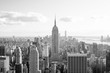 View of Midtown Manhattan and the Empire State Building from the Top of the Rock