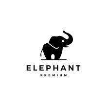 Elephant Logo Vector Icon Illustration