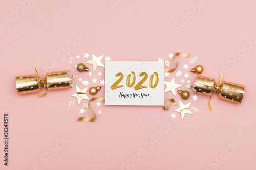 Obraz 2020 Happy New Year party background - fototapety do salonu