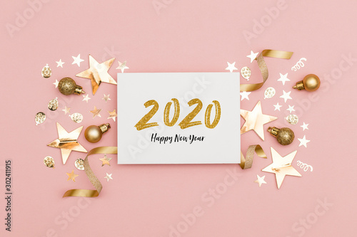 2020 Happy New Year party background Wallpaper Mural