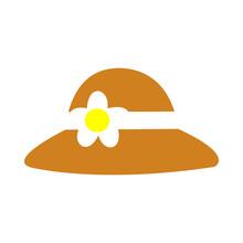 An Elegant Brown Womens Hat Wi...