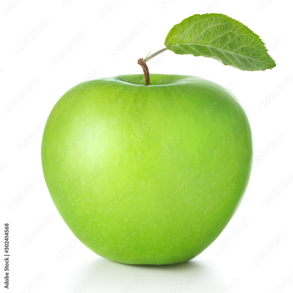 Fototapety, obrazy: green apple isolated on white background