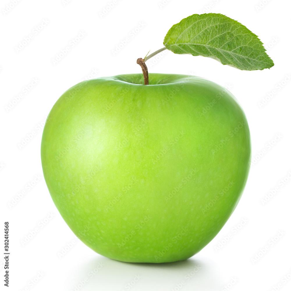 Fototapeta green apple isolated on white background