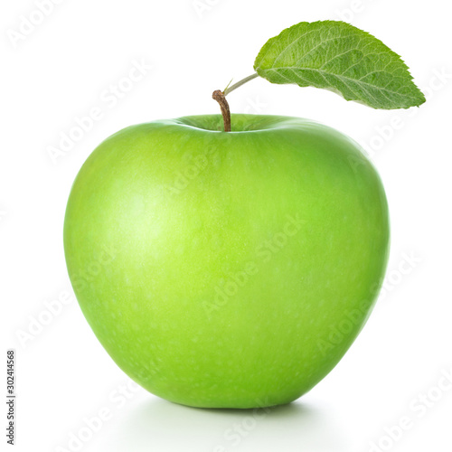 Fotografering green apple isolated on white background