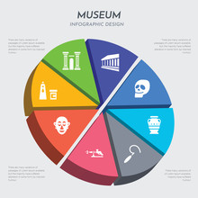 Museum Concept 3d Chart Infographics Design Included Acrylic, African Mask, Airbrush, Ancient, Ancient Jar, Anthropology, Antic Architecture, Antique Column Icons