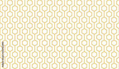 Canvas Print Bee honey comb background seamless