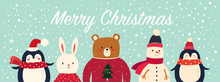 Vector Christmas Banner With F...