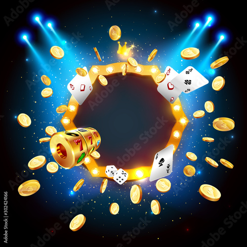 Canvas-taulu Vector illustration of the gold coins blast