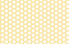 Bee Honey Comb Background Seamless. Simple Seamless Pattern Of Bee Honeycomb Cells. Illustration. Vector Texture. Geometric Print