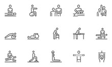 Physical Therapy Vector Line I...