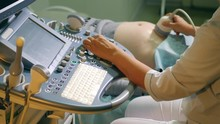Ultrasound Scanning Is Carried Out With The Medical Equipment