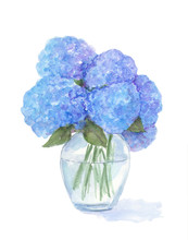 Hydrangea Flower Watercolor Pa...