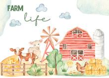 Watercolor Card Life Of A Farm...