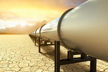 3D Rendering Of A Pipeline Ove...