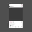 Instagram interface mockup. Instagram photo frame mockup.