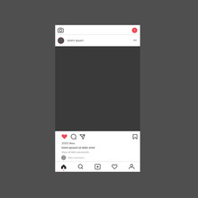 Instagram Interface Mockup. In...