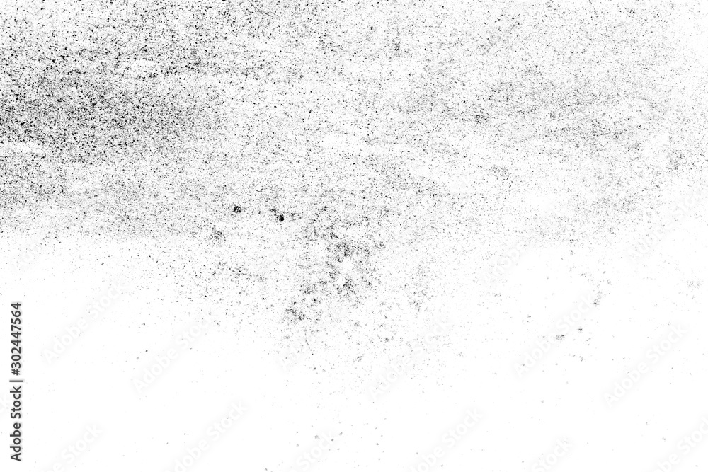 Fototapety, obrazy: black sand isolated on white background