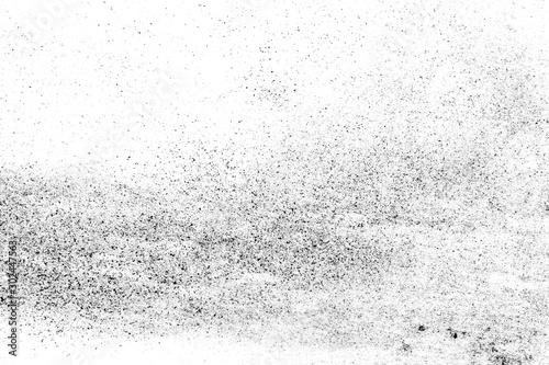 Fotografía  black sand isolated on white background