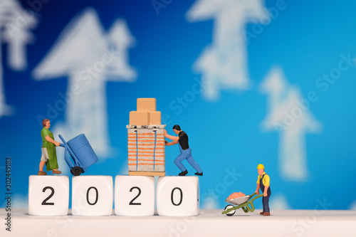 2020 année an travail emploi chomage Canvas Print