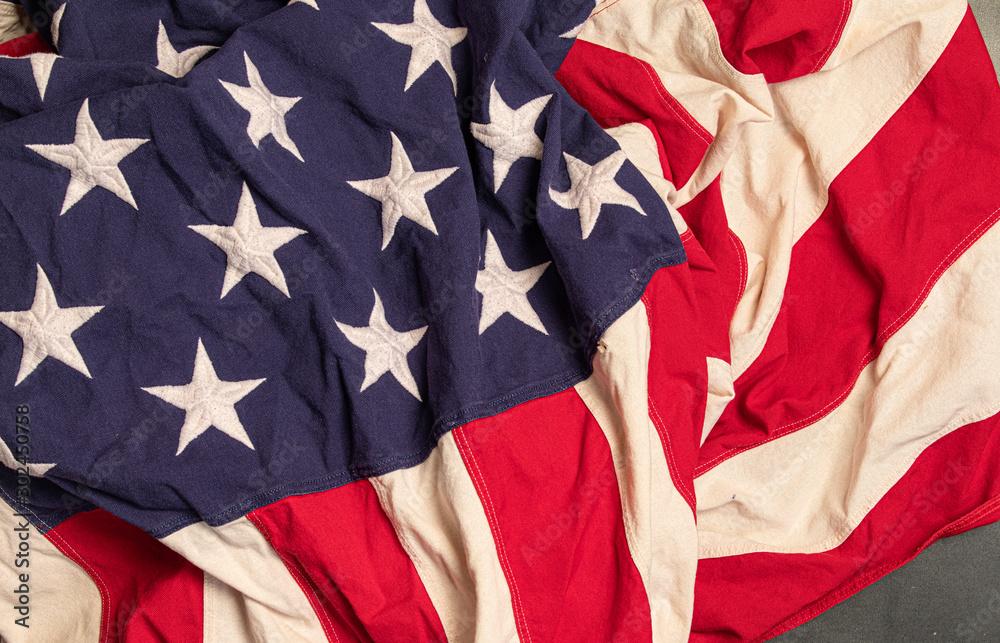 Fototapety, obrazy: usa flag stripes and stars