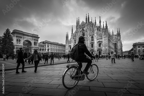 Milan Italy - black and white image