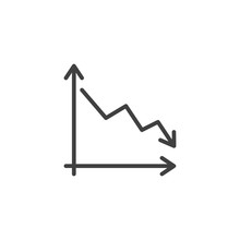 Business Decline Graph Line Ic...