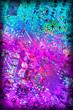 canvas print picture - Circuit Board Multicolored Vignette Background