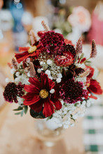 Bouquet Of Red Wedding Flowers