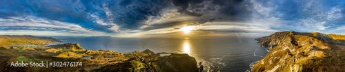 Aerial of Slieve League Cliffs are among the highest sea cliffs in Europe rising Fototapeta