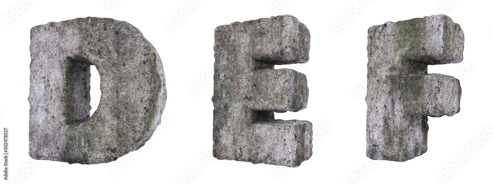 Fototapety, obrazy: Abstract Old Concrete Letters D E F