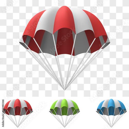 Stampa su Tela Red and White Cartoon Parachute Template