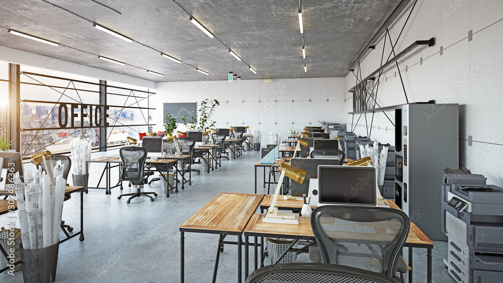 Fototapety, obrazy: modern office interior,